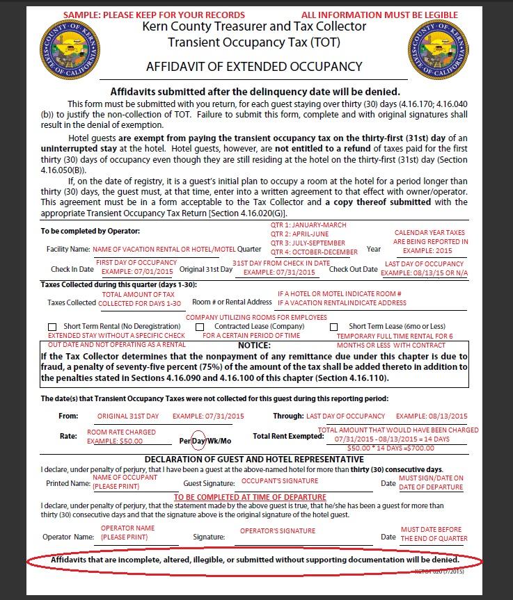 occupancy affidavit form - People.davidjoel.co