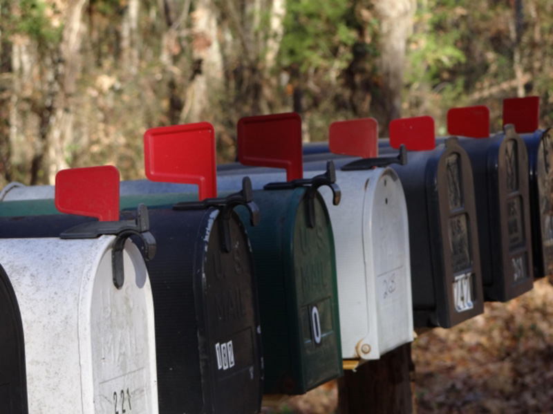 Several mailboxes